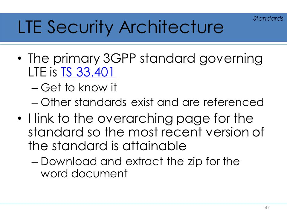 LTE Security Architecture