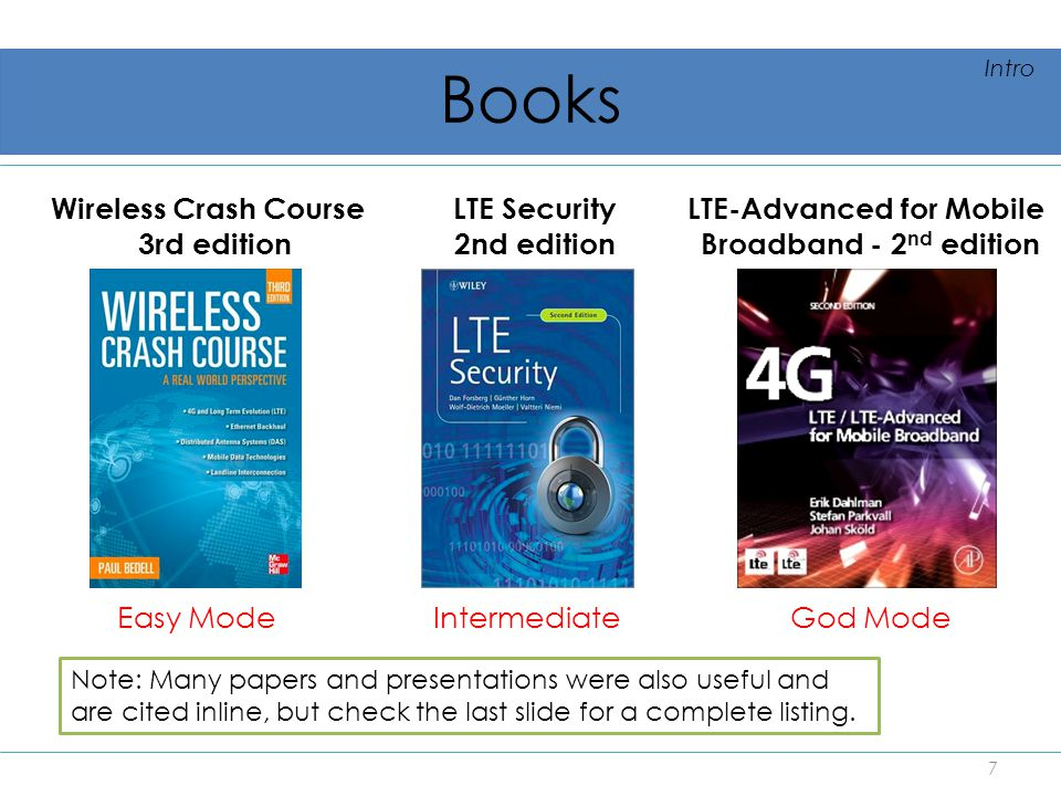 Books Wireless Crash Course 3rd edition LTE Security 2nd edition