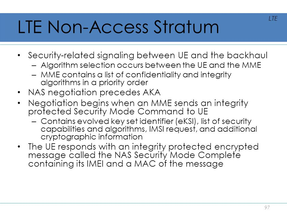 LTE Non-Access Stratum