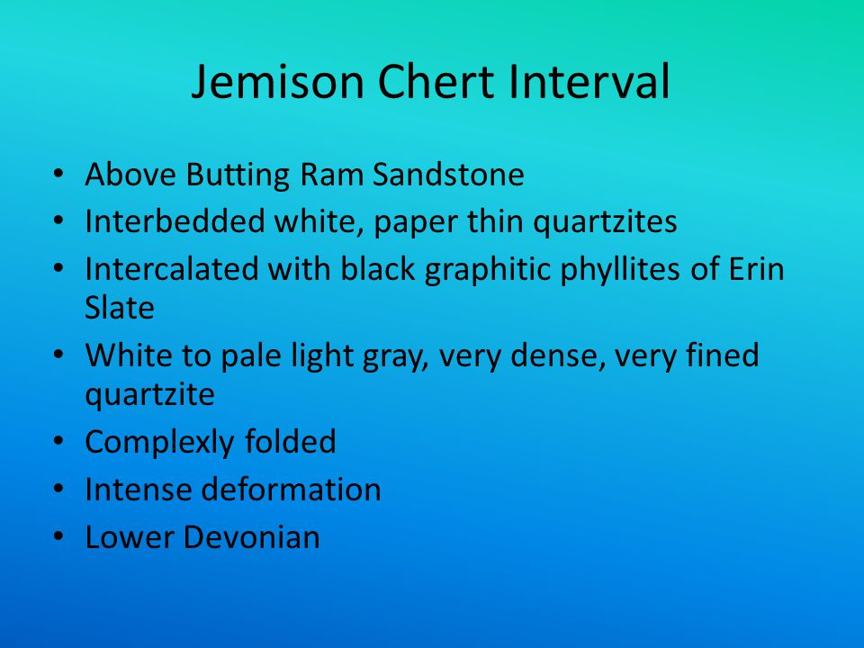 Jemison Chert Interval
