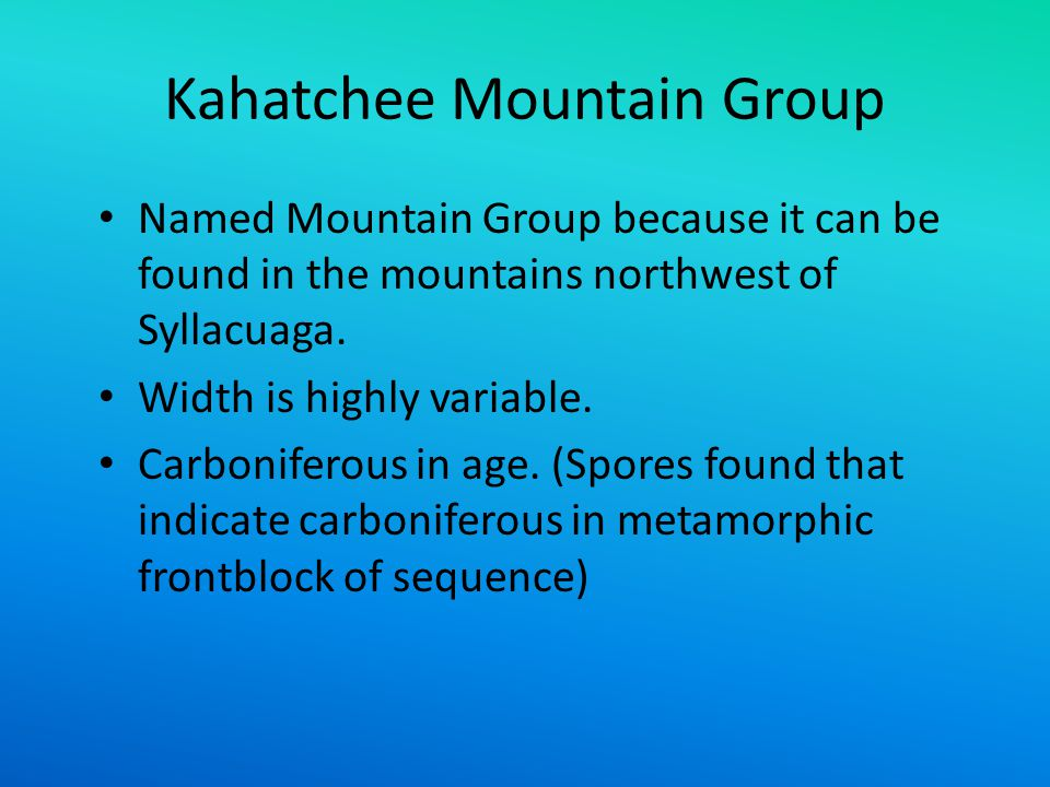 Kahatchee Mountain Group