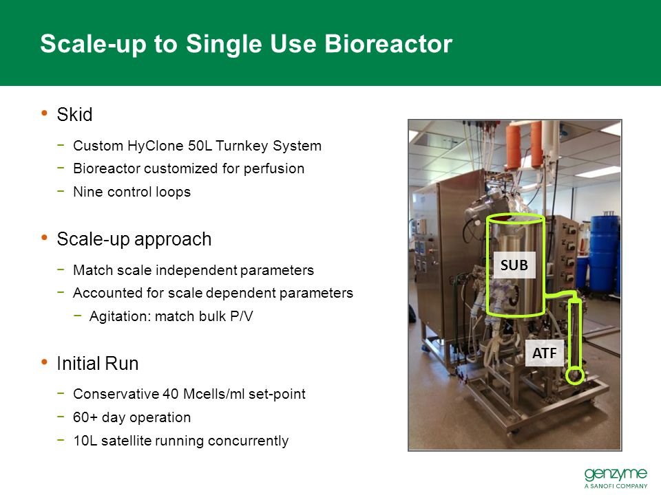 Scale-up to Single Use Bioreactor