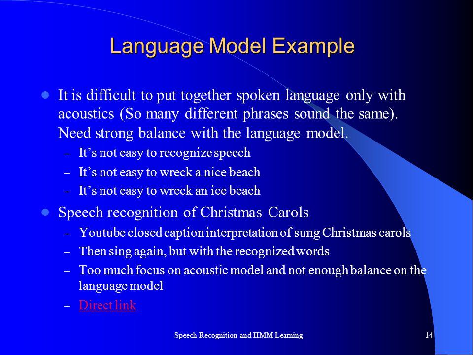 Language Model Example