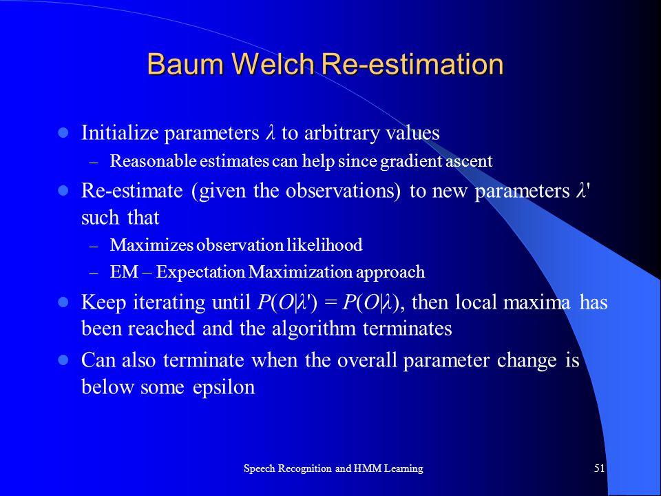 Baum Welch Re-estimation