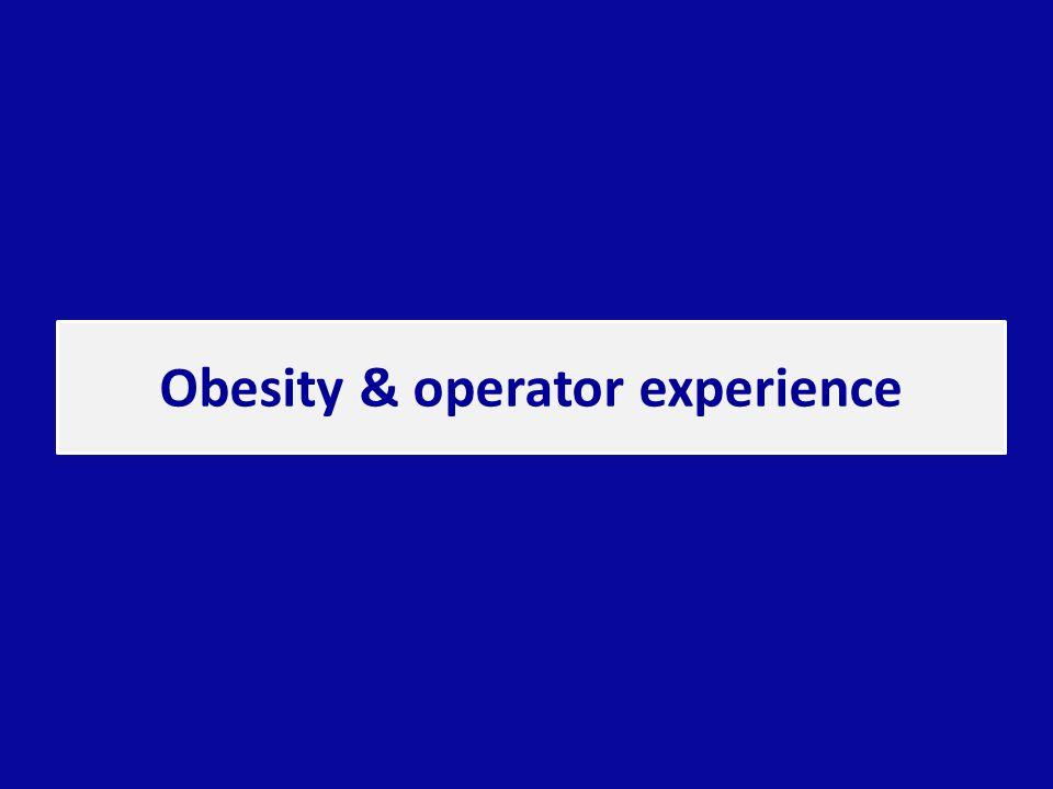 Obesity & operator experience