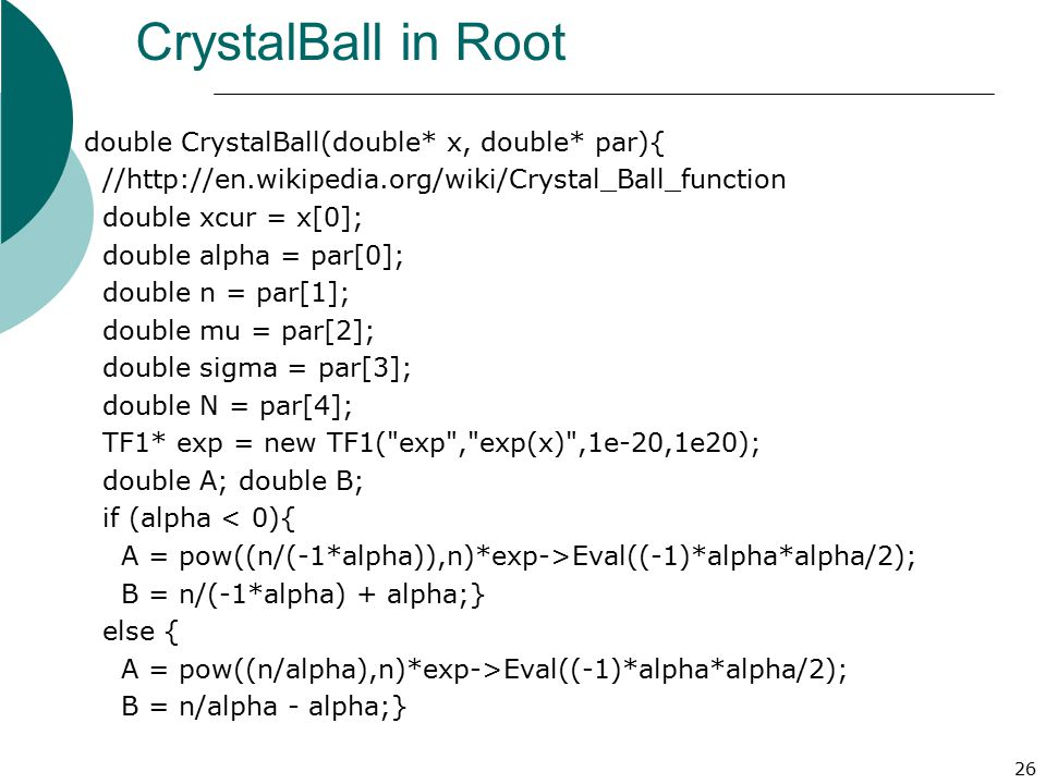CrystalBall in Root