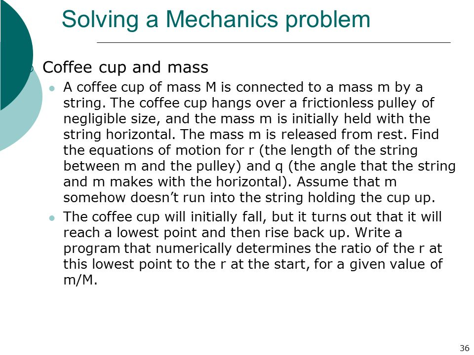 Solving a Mechanics problem