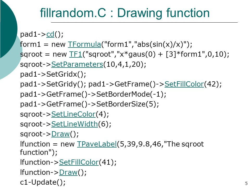 fillrandom.C : Drawing function