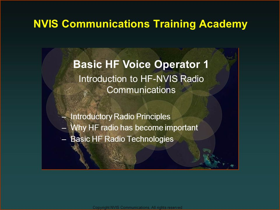 NVIS Communications Training Academy