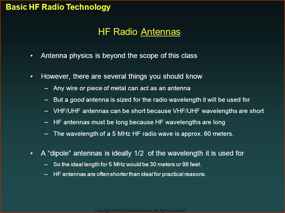 HF Radio Antennas Basic HF Radio Technology