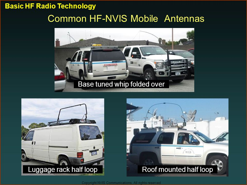 Common HF-NVIS Mobile Antennas