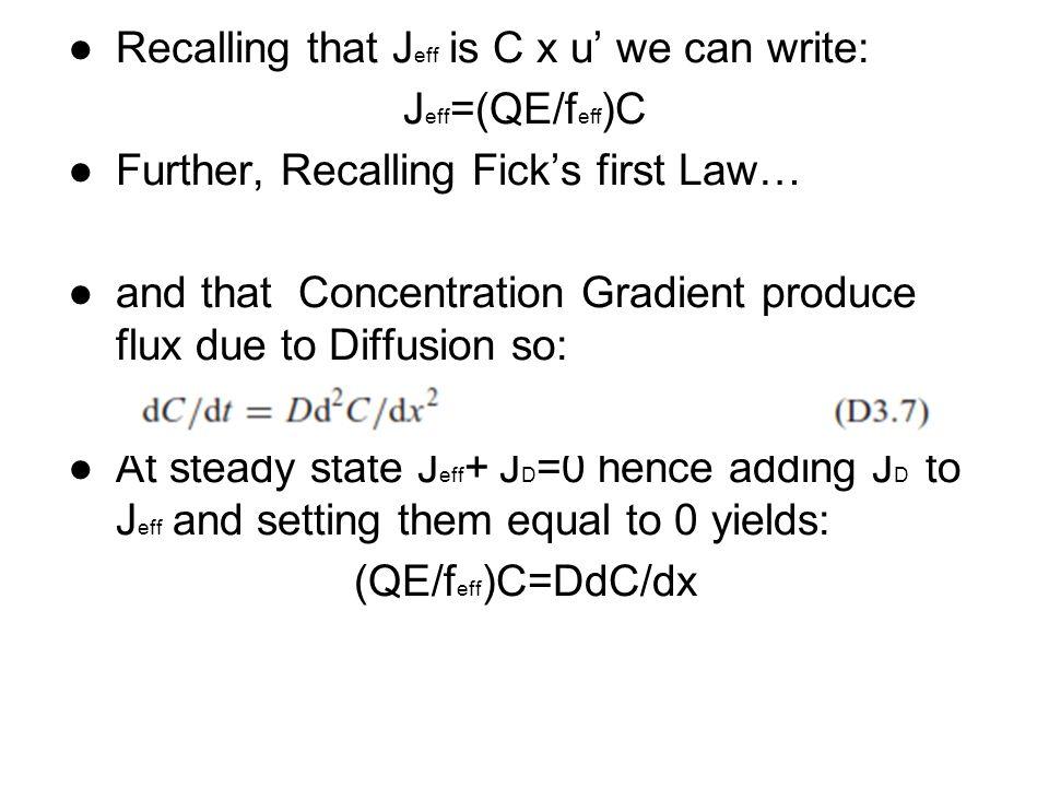 Recalling that Jeff is C x u' we can write: