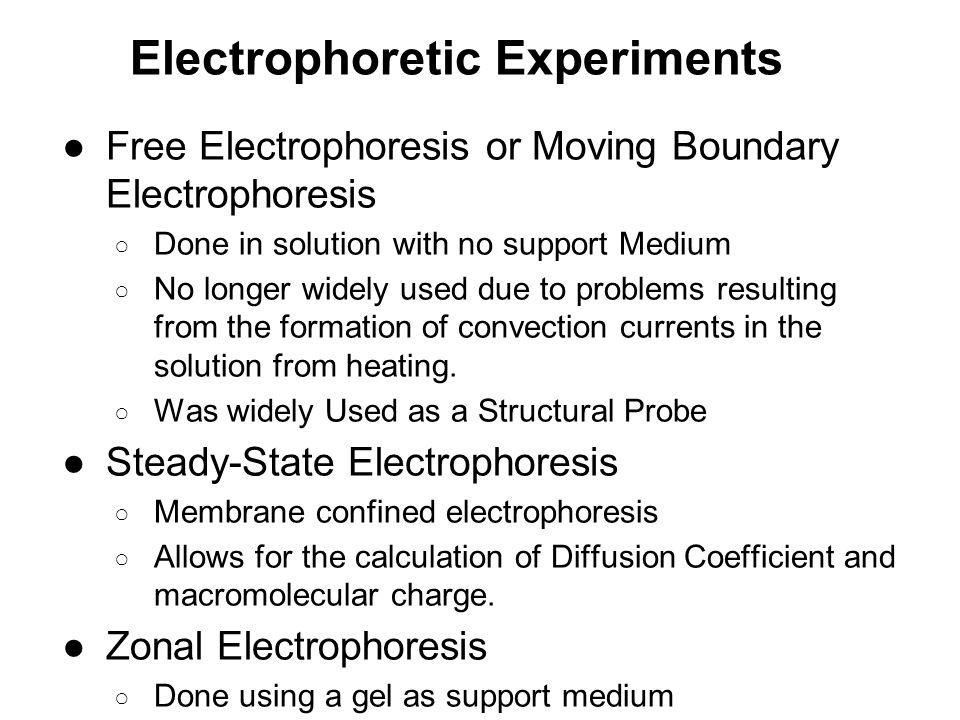 Electrophoretic Experiments