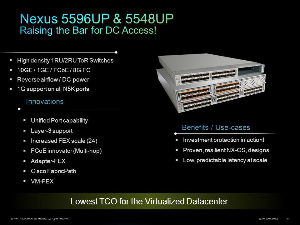 Nexus 5596UP & 5548UP Raising the Bar for DC Access!