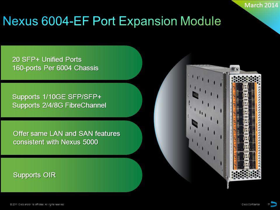 Nexus 6004-EF Port Expansion Module
