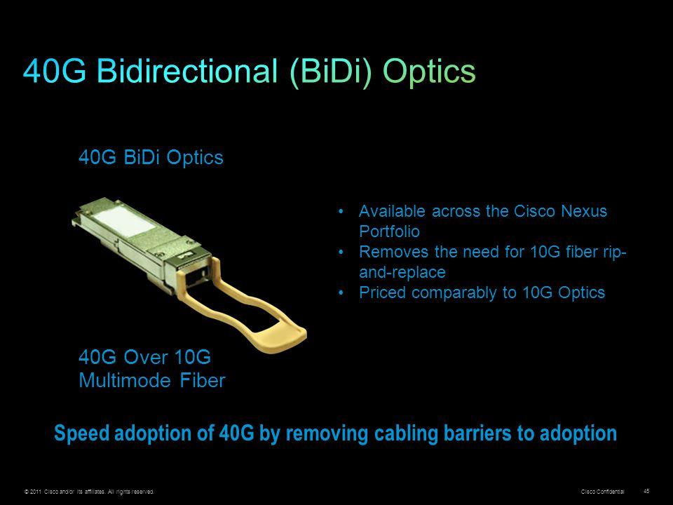 40G Bidirectional (BiDi) Optics