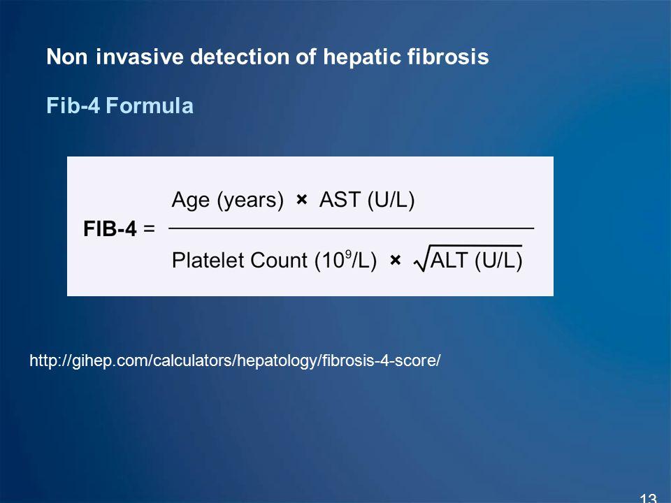 Non invasive detection of hepatic fibrosis