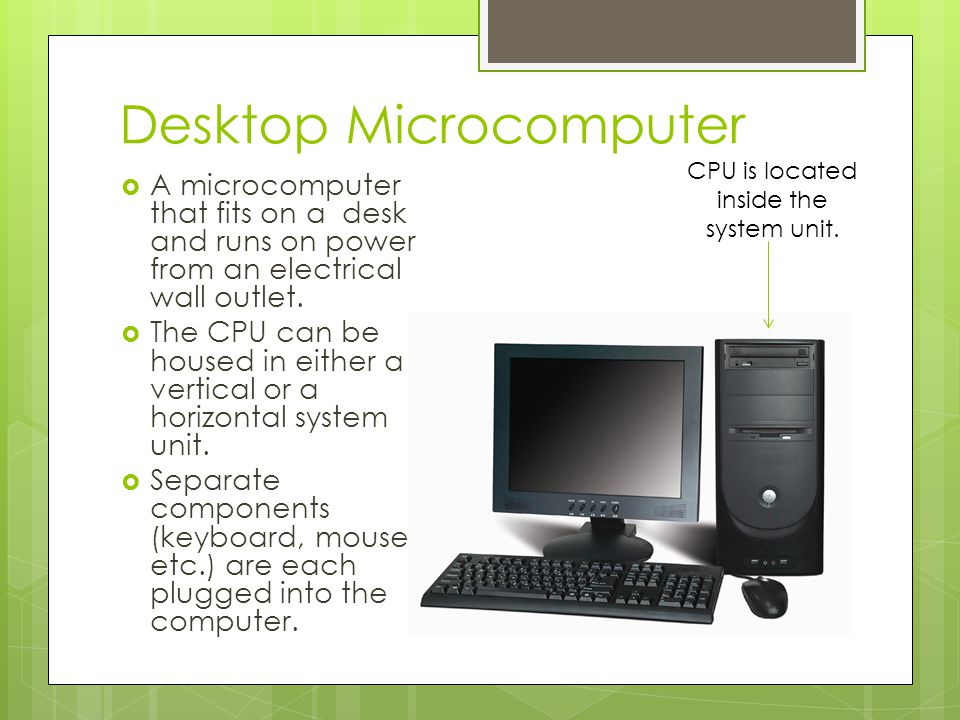 Desktop Microcomputer