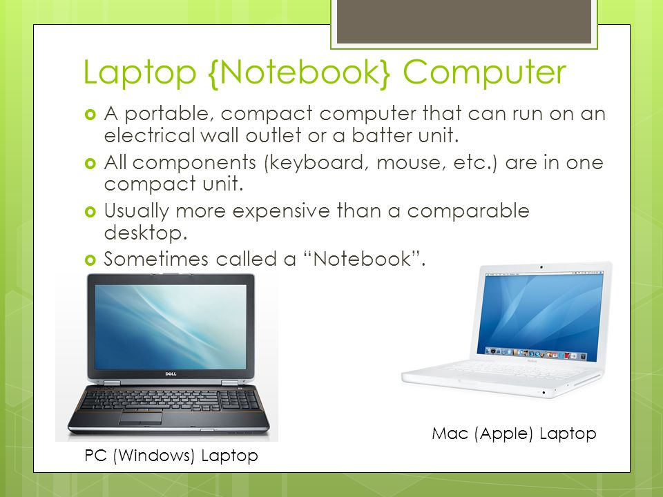 Laptop {Notebook} Computer