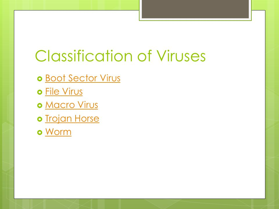 Classification of Viruses