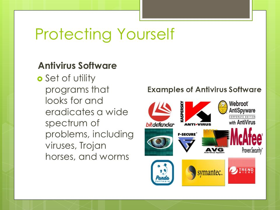 Protecting Yourself Antivirus Software