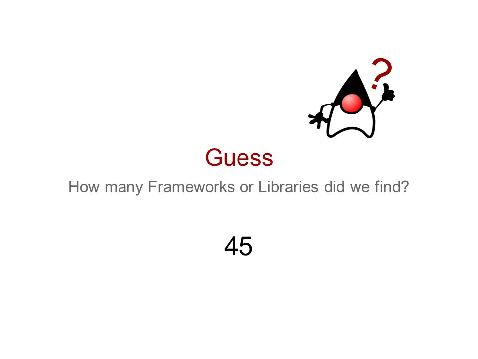 How many Frameworks or Libraries did we find