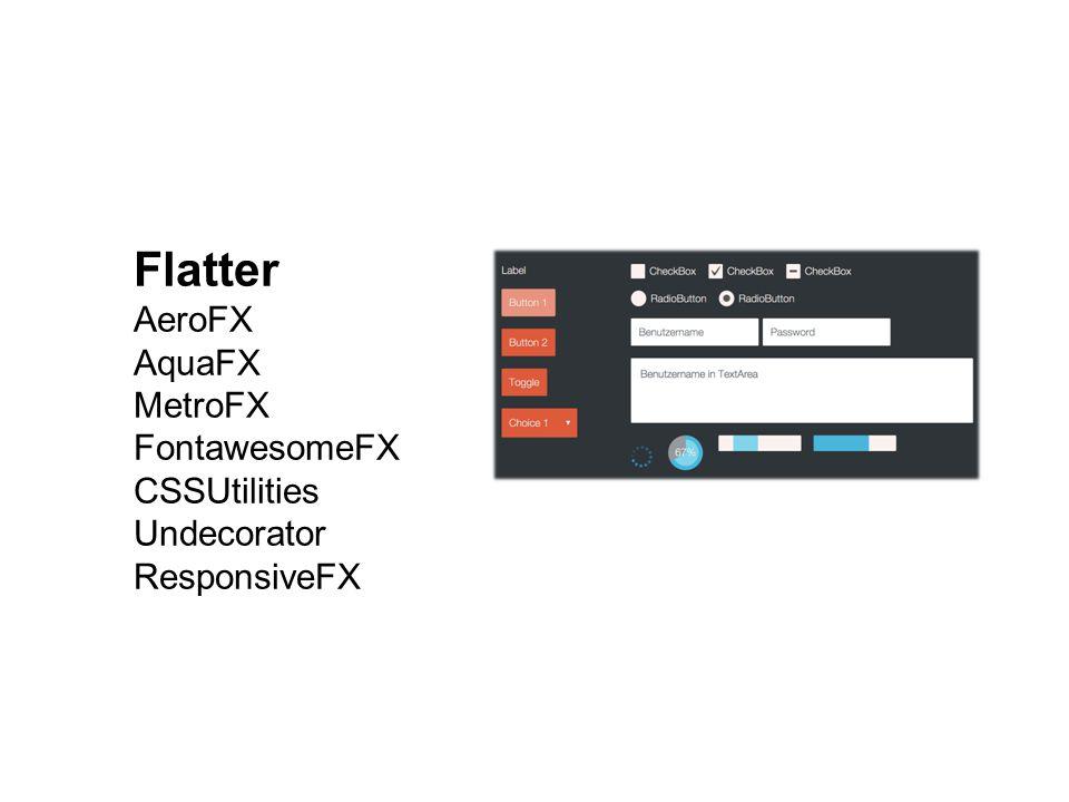 Flatter AeroFX AquaFX MetroFX FontawesomeFX CSSUtilities Undecorator