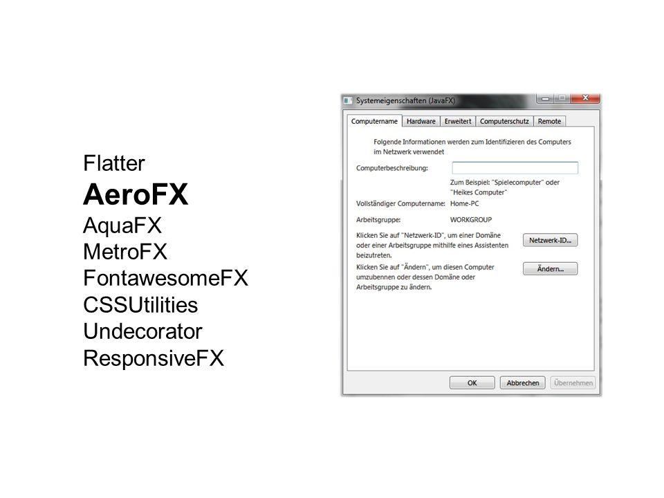 AeroFX Flatter AquaFX MetroFX FontawesomeFX CSSUtilities Undecorator