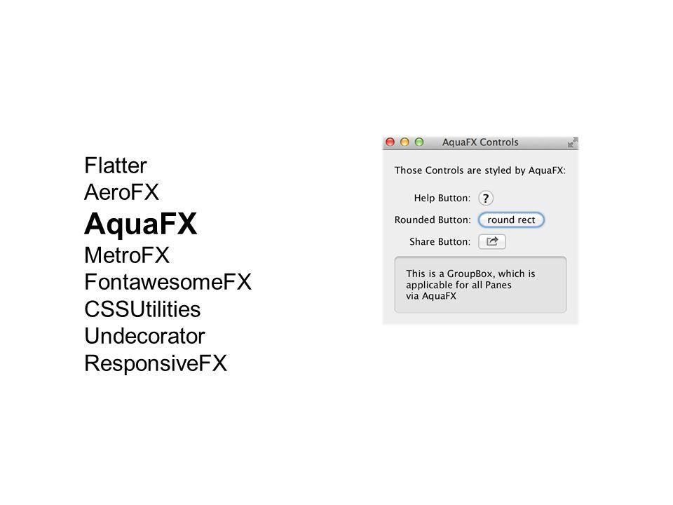 AquaFX Flatter AeroFX MetroFX FontawesomeFX CSSUtilities Undecorator