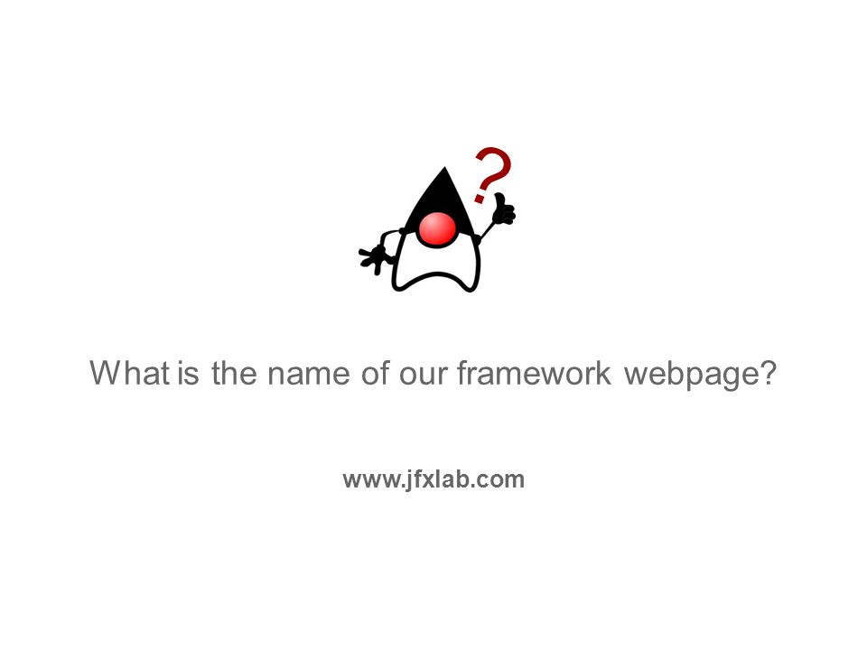 What is the name of our framework webpage