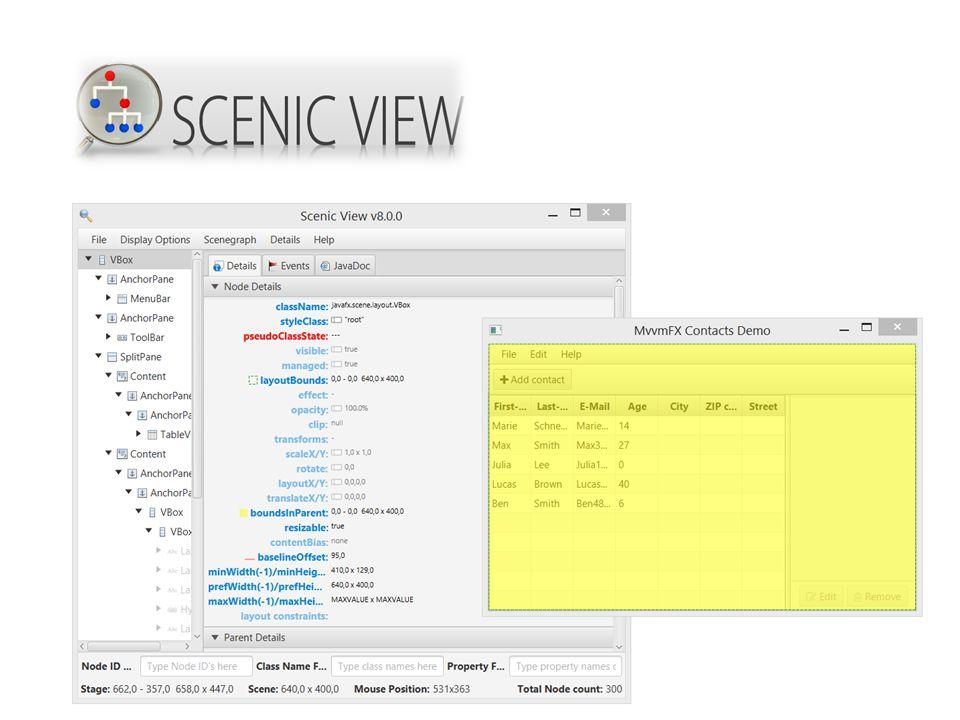 - Live e(fx)clipse (getter Setter generation + svg->fxml)