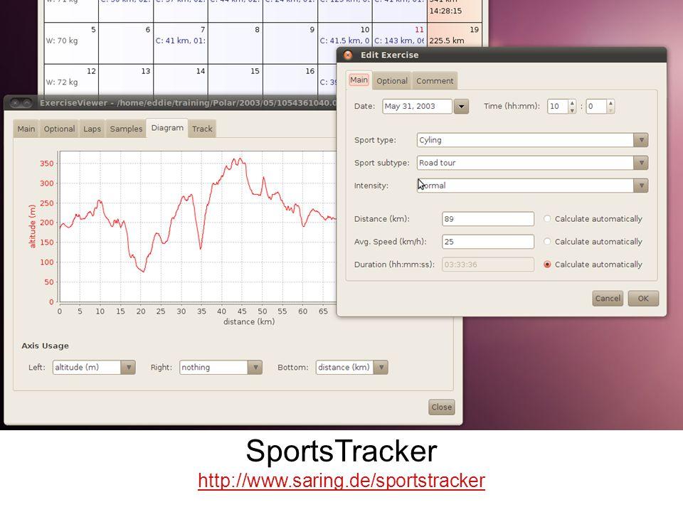 SportsTracker http://www.saring.de/sportstracker SportsTracker Project