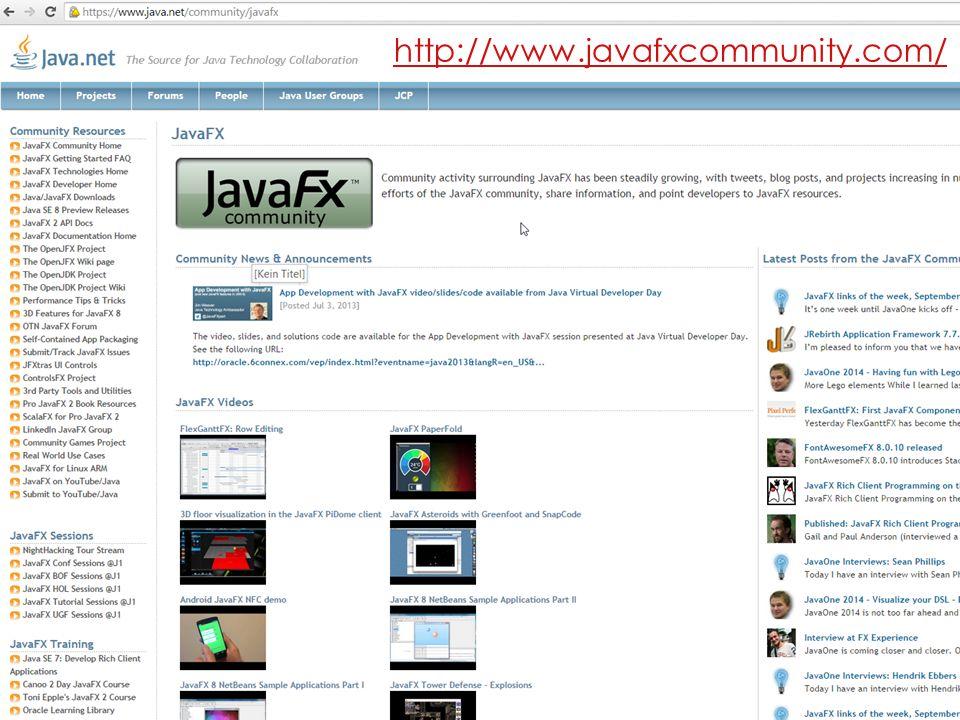 http://www.javafxcommunity.com/