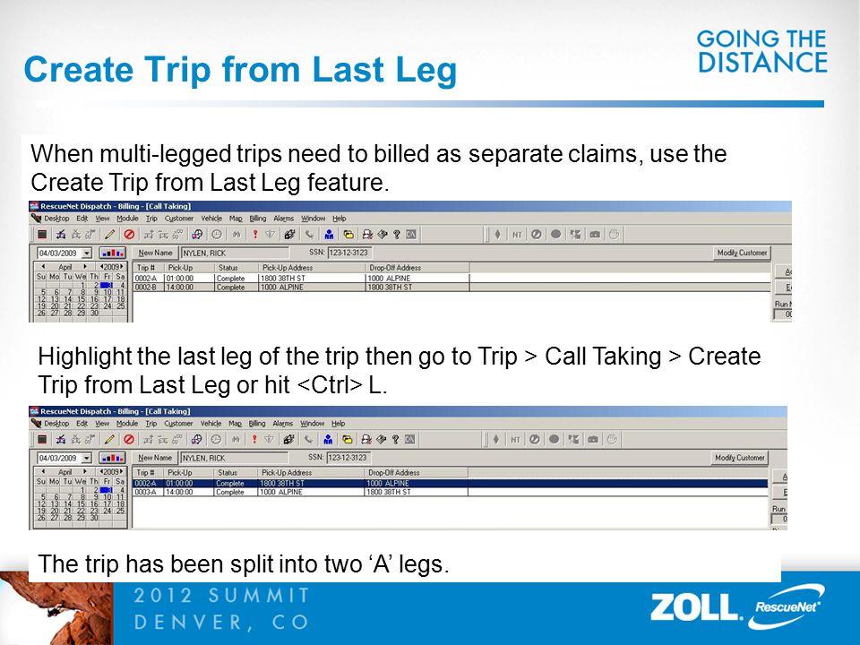 Create Trip from Last Leg
