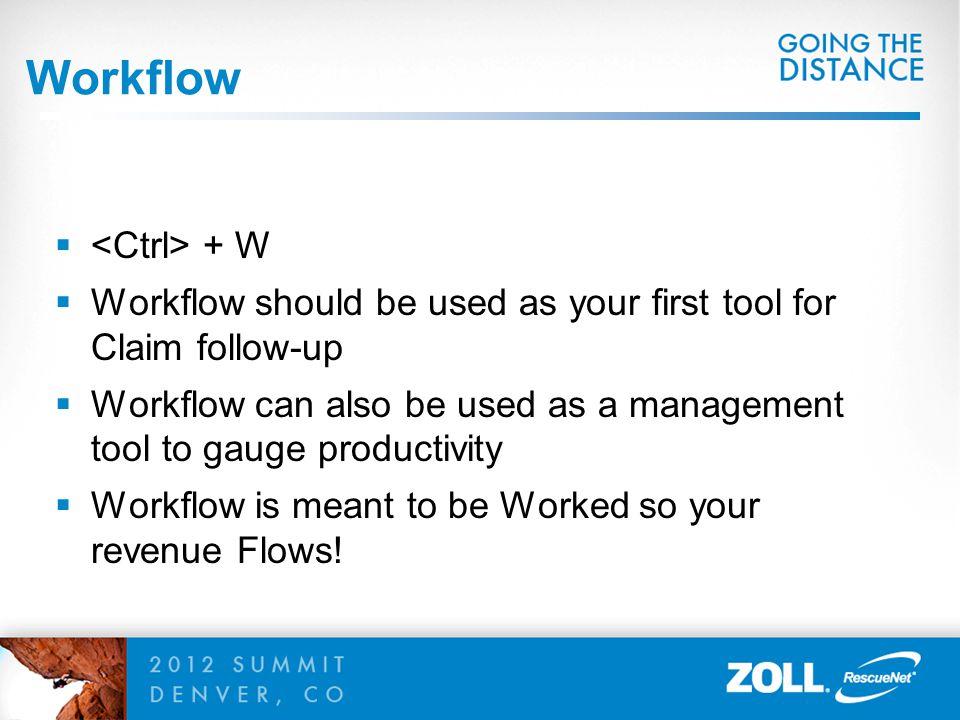 Workflow <Ctrl> + W