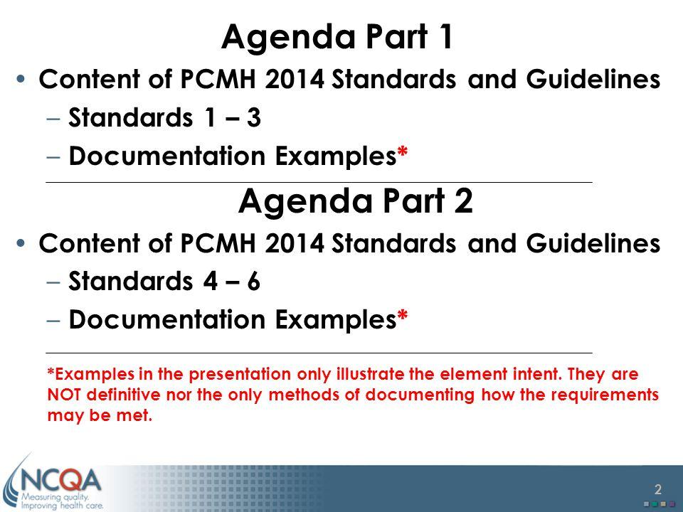 Agenda Part 1 Agenda Part 2