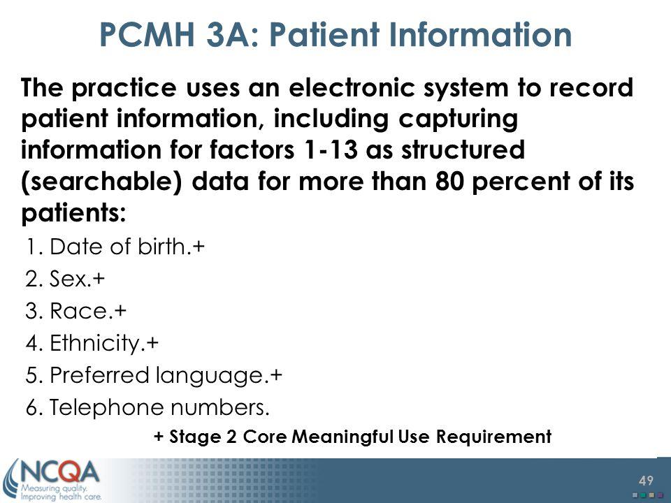 PCMH 3A: Patient Information