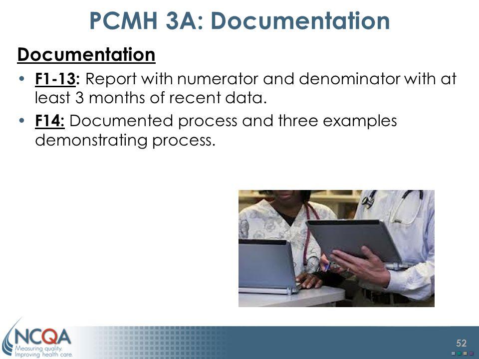 PCMH 3A: Documentation Documentation