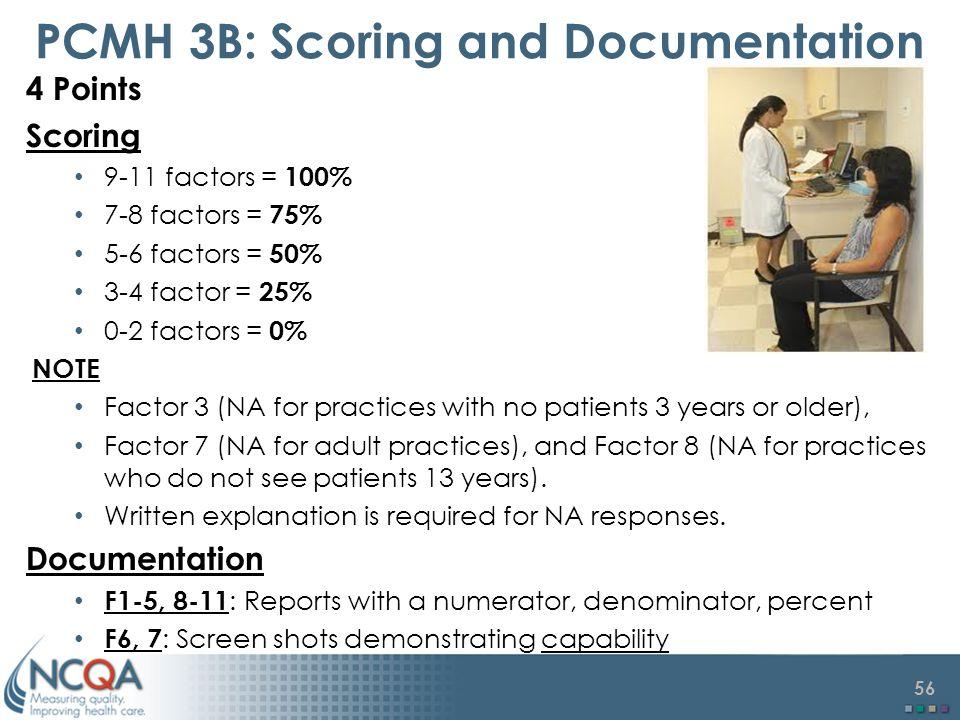 PCMH 3B: Scoring and Documentation