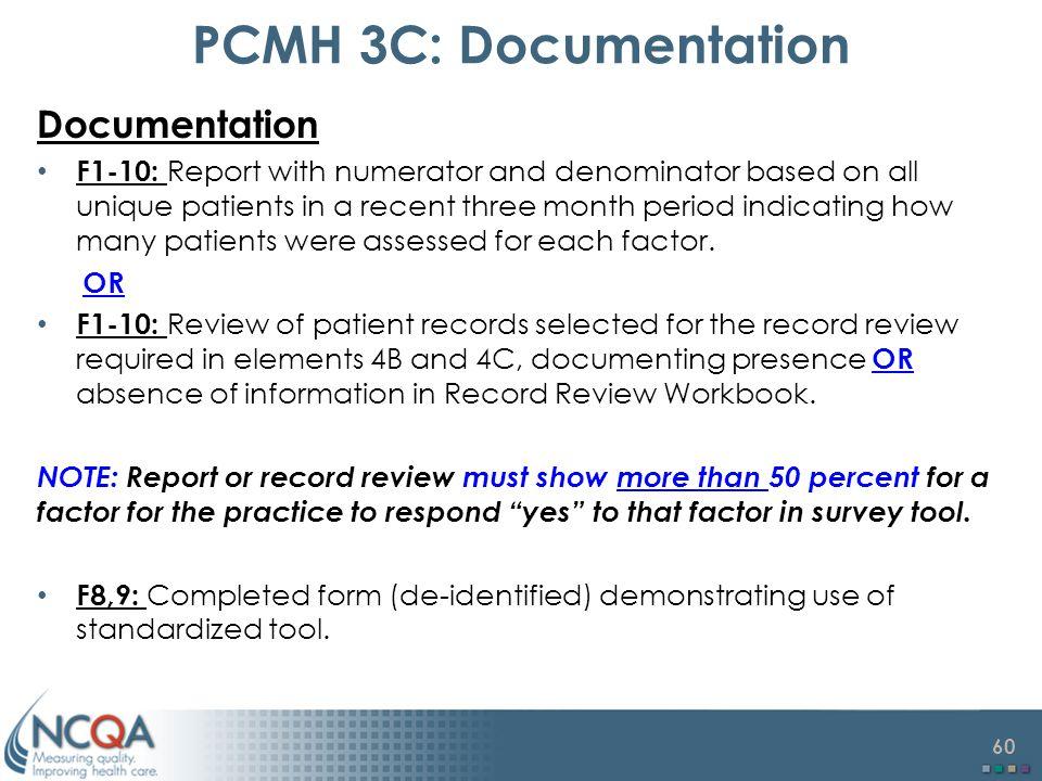 PCMH 3C: Documentation Documentation