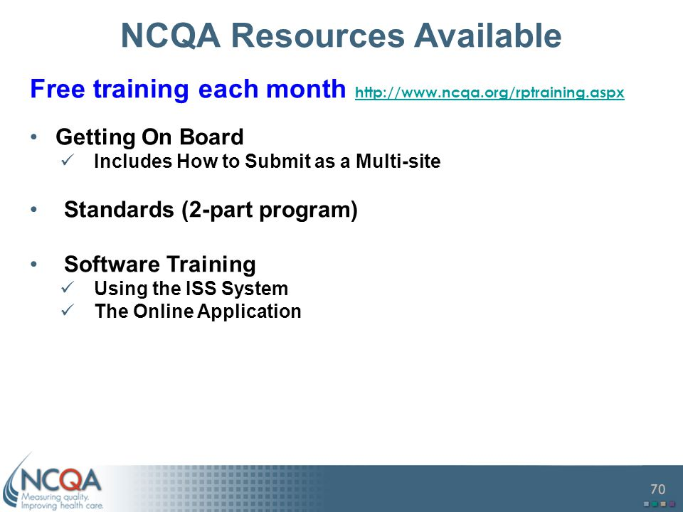 NCQA Resources Available