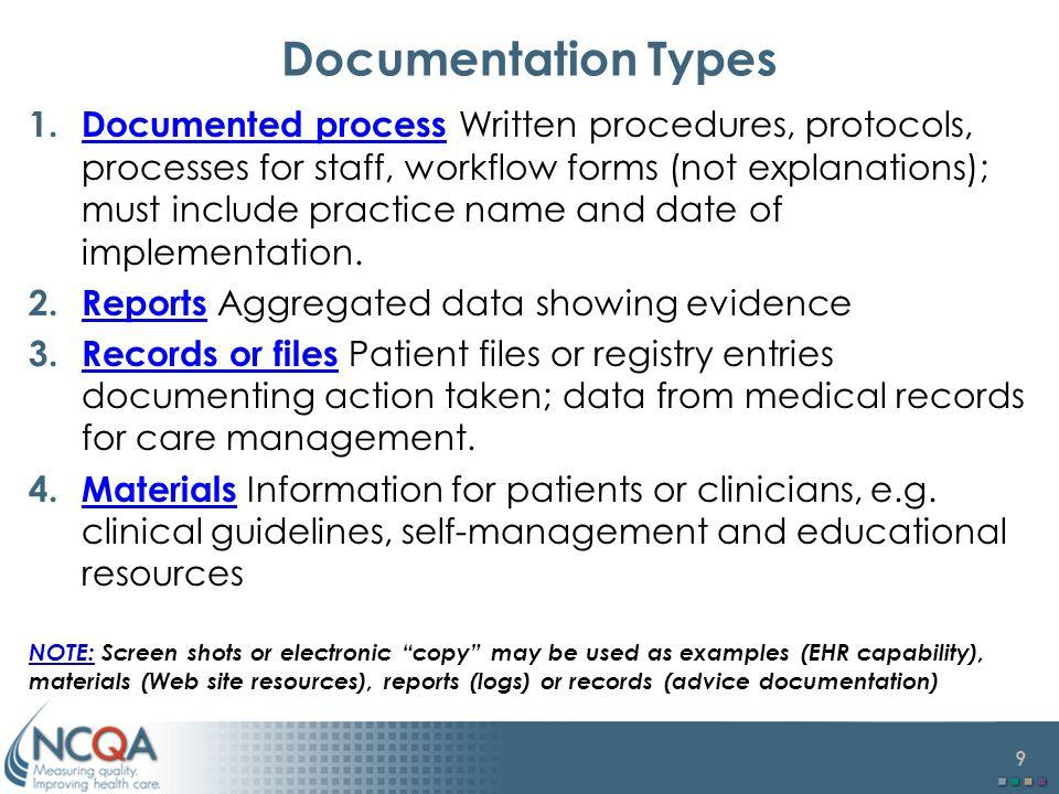 Documentation Types
