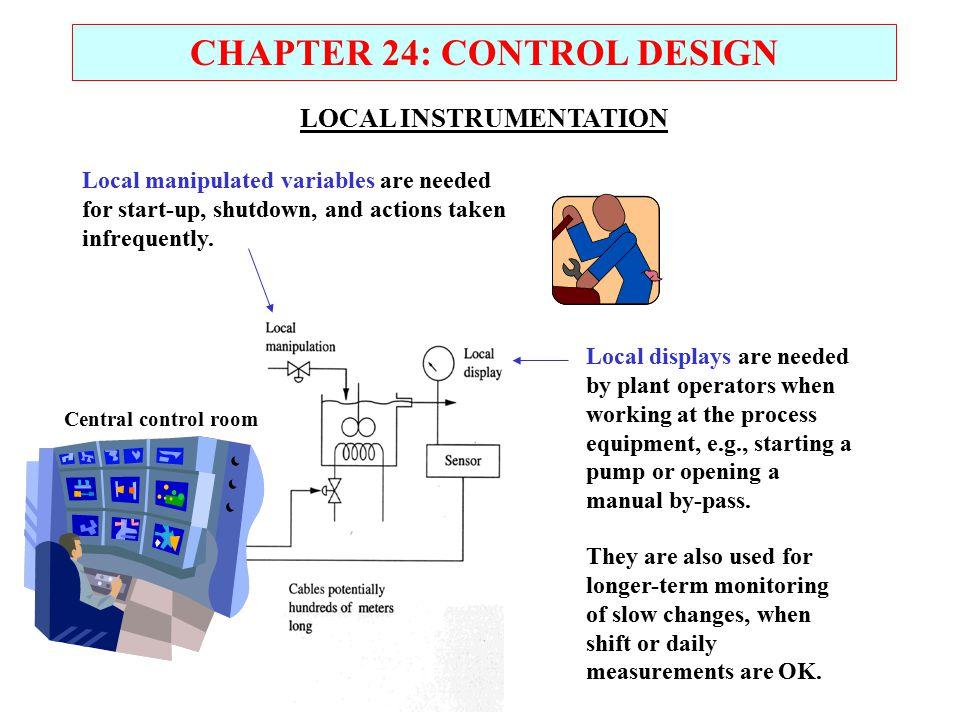 CHAPTER 24: CONTROL DESIGN LOCAL INSTRUMENTATION
