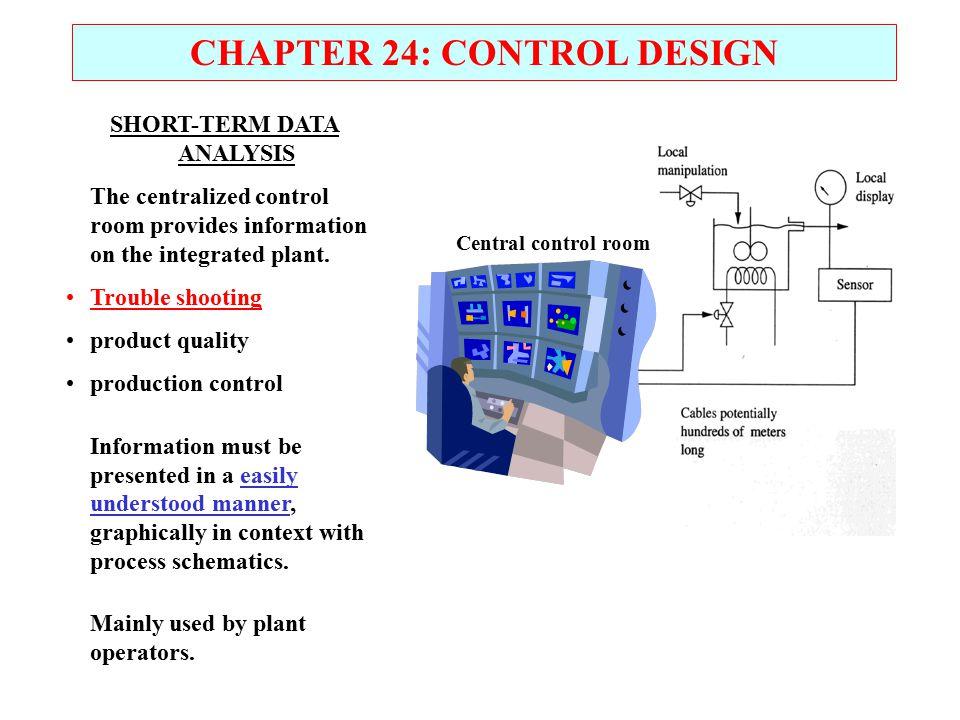 CHAPTER 24: CONTROL DESIGN SHORT-TERM DATA ANALYSIS