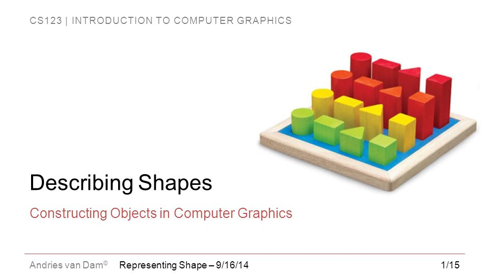 Constructing Objects in Computer Graphics