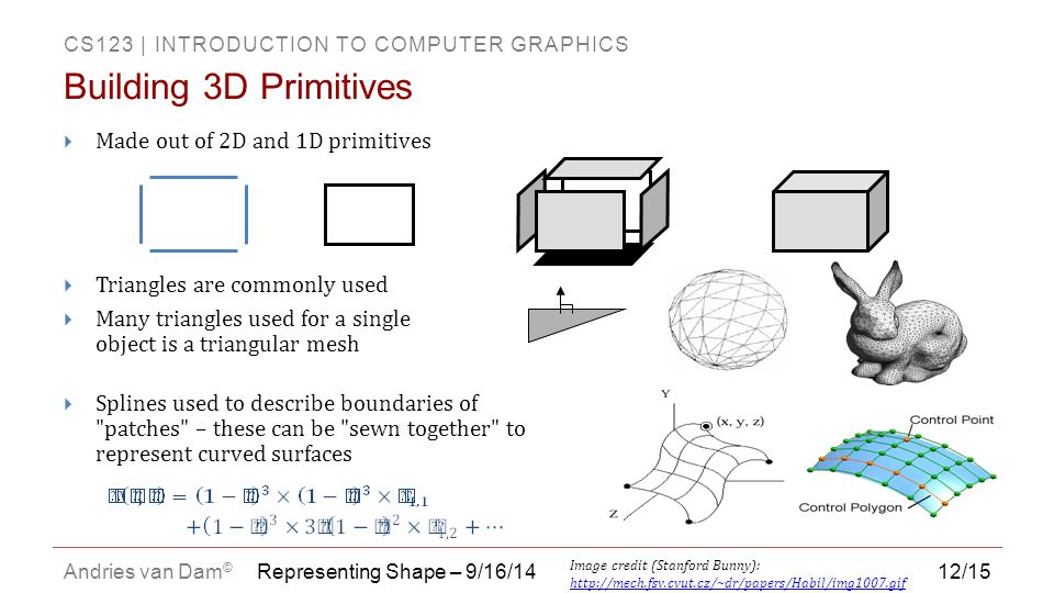 Building 3D Primitives Made out of 2D and 1D primitives