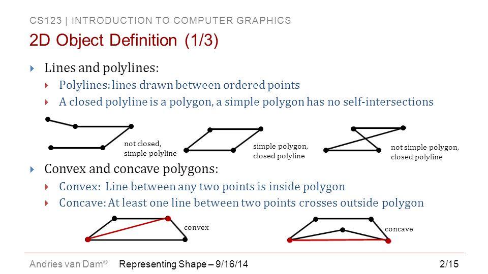 2D Object Definition (1/3)