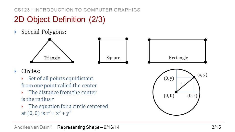 2D Object Definition (2/3)
