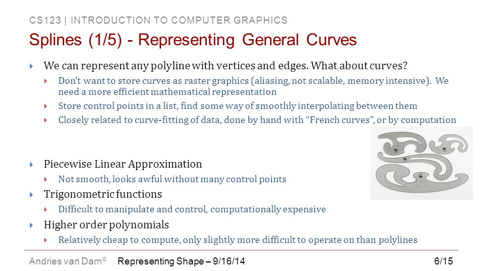 Splines (1/5) - Representing General Curves