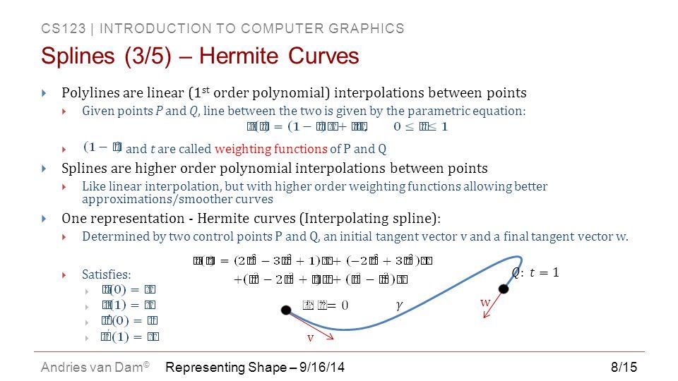 Splines (3/5) – Hermite Curves